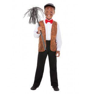 Jaren 50 Schoorsteenveger Kind Jongen Kostuum