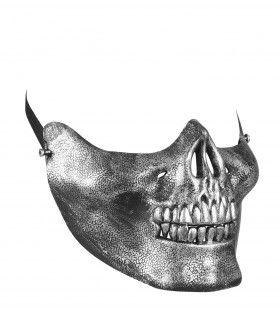 Halloween Halfmask Kinmasker Schedel Metallic