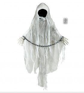 Halloween Deco Spook Zonder Gezicht Met Ketting 90cm