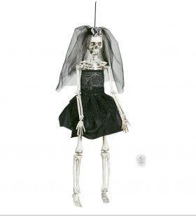 Halloween Deco Skelet Bruidje 42cm