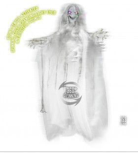 Horror-Deco Animatie Heks Met Lichtende Ogen En Geluid, 153 Centimeter