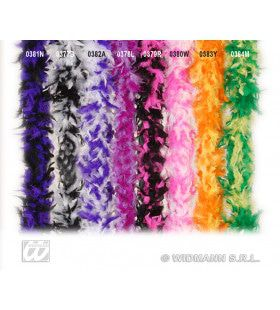 Boa, 2-Kleurig Paars / Wit 180cm