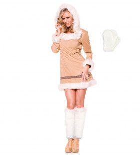Visser Eskimo Meisje Vrouw Kostuum