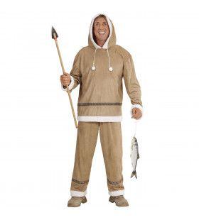 Visser Eskimo Heer Man Kostuum