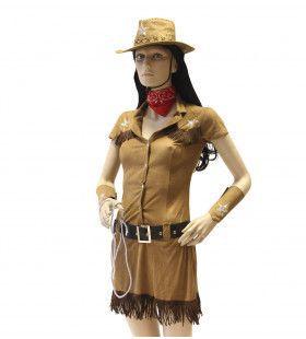 Cowgirl Ms Sandy Vrouw Kostuum