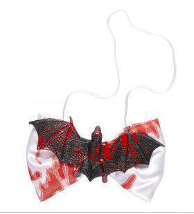 Halloween Strikje Met Bloedende Vleermis