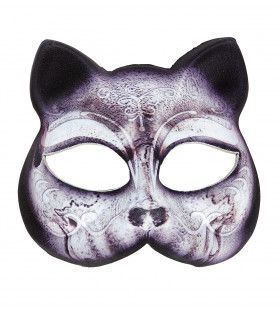 Halloween Halfmask Kinloos Katten Masker