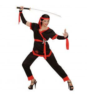 Ms Bill Ninja Vrouw Kostuum