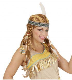 Vlechten Pruik, Chippewa Indiaanse