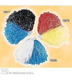 Pom Pom Zwart / Blauw