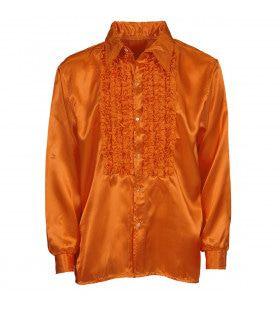 Lekker Foute Rouchenblouse Oranje Man