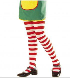 Gestreepte Kinderpanty Wit / Rood Pipi Langkous