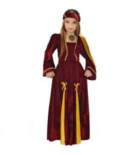 Middeleeuwse Prinses Maat Meisje Kostuum