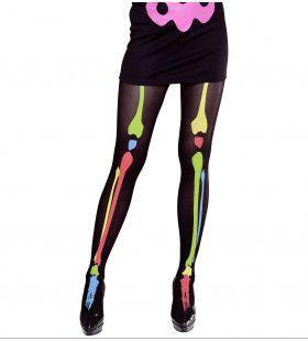 Panty Skelet Neon Kleuren Botten