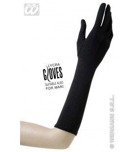 Handschoenen Lycra 37cm Zwart