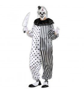 Killer Pierrot Slager Clown Man Kostuum