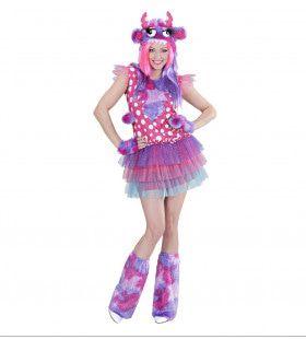 Rose Monster Meisje Ms Comic Strip Vrouw Kostuum