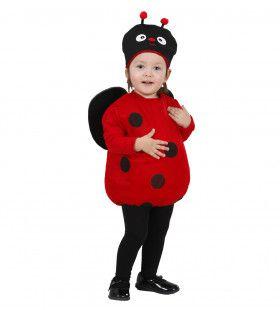 Opgevuld Lieveheersbeestje Kind Stip- Stap Kostuum