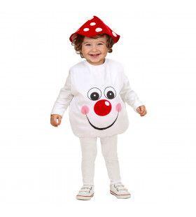 Opgevulde Paddestoel Kind Kleine Knuffel Kostuum