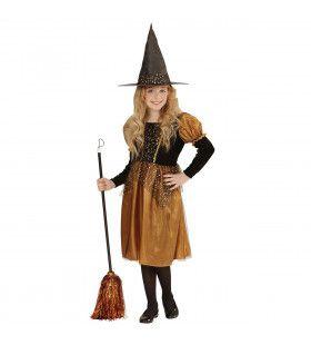 Klassieke Kleine Heks Oranje Meisje Kostuum