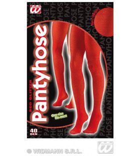 Panty 40den, Glitter Rood