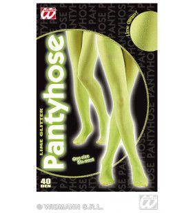 Panty 40den, Glitter Limoen