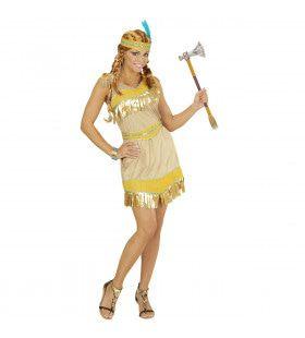 Gouden Indiaans Meisje Golden Feet Vrouw Kostuum