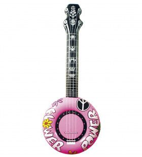 Opblaasbare Banjo, 100cm Rose Flower Power