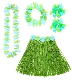 Hula Hula Hawaii Set Groen