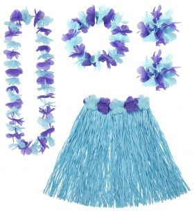 Hula Hula Hawaii Set Blauw