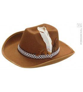 Cowboyhoed Bruin Met Veren, Kind