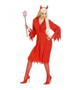 Spannende Vurige Duivelin Kostuum Vrouw