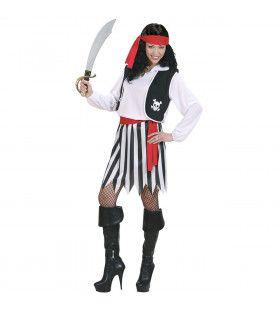 Piraat Vrouw Ahoy Kostuum
