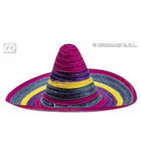 Sombrero Meerkleurig, 50cm