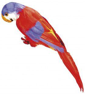 Ms Parrot Decoratieve Papegaai, Rood