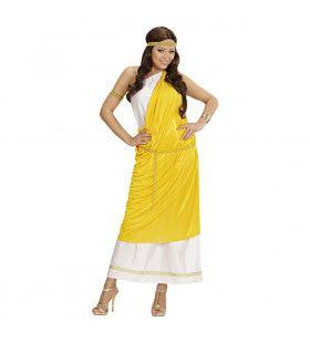 Klassieke Romeinse Dame Kostuum Vrouw