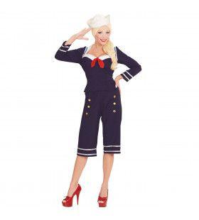 Hotlips 50s Pin Up Matroos Vrouw Kostuum