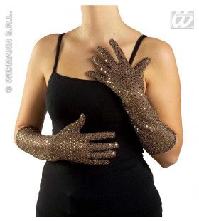 Pailletten Handschoenen Zilver
