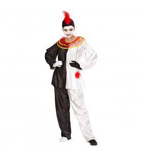 Pierrot Traditioneel Volwassen Kostuum Vrouw