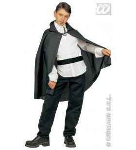 Zwarte Cape, Kind, 90cm Kostuum