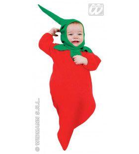 Grappige Hete Rode Peper, Baby Kostuum Kind