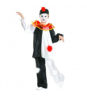 Pierrot Traditioneel Kind Kostuum