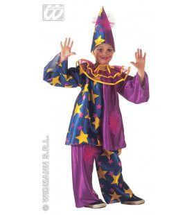 Harlekino Clown Met Sterren Kind Kostuum
