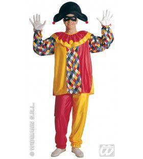 Kleurrijke Harlekijn Kostuum Man