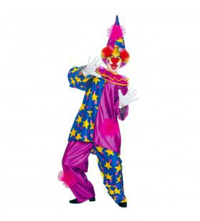 Harlekino Clown Met Sterren Kostuum Man