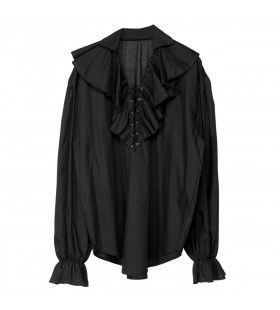 Piratenshirt Dames, Zwart Vrouw