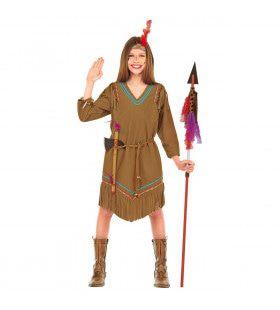 Verkleedset Indiaanse Chiefs Lady Kostuum Meisje