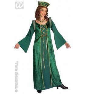 Kasteelvrouwe Lady Eleonora Kostuum