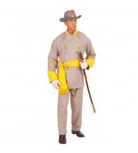 Generaal Confederatie North And South Kostuum Man
