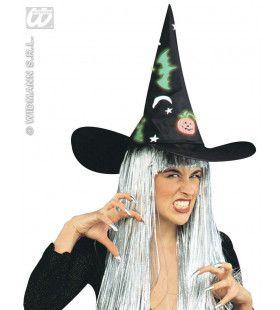 Heksenhoed Halloween, Lichtgevend In Donker
